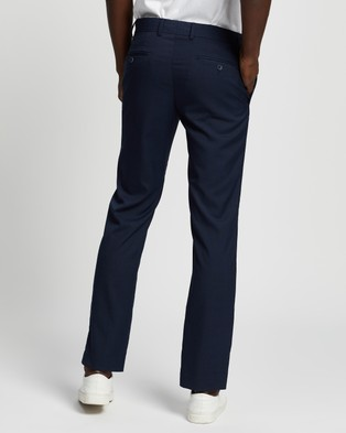 Double Oak Mills Dom Slim Tailored Trousers - Pants (Navy)