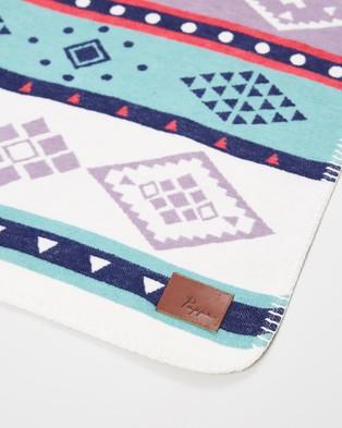 Pappe Ottley Twill Blanket - Blankets (Jade Multi)