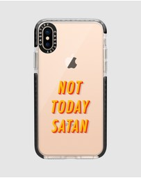 Casetify - Not Today Impact Protective Case for iPhone XS/ iPhone X