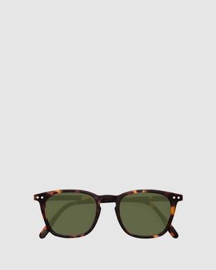 IZIPIZI Sun Collection E Green Lenses - Square (Brown)