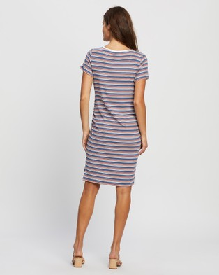 Angel Maternity Maternity and Nursing Bodycon Stripe Dress - Printed Dresses (Stripe)