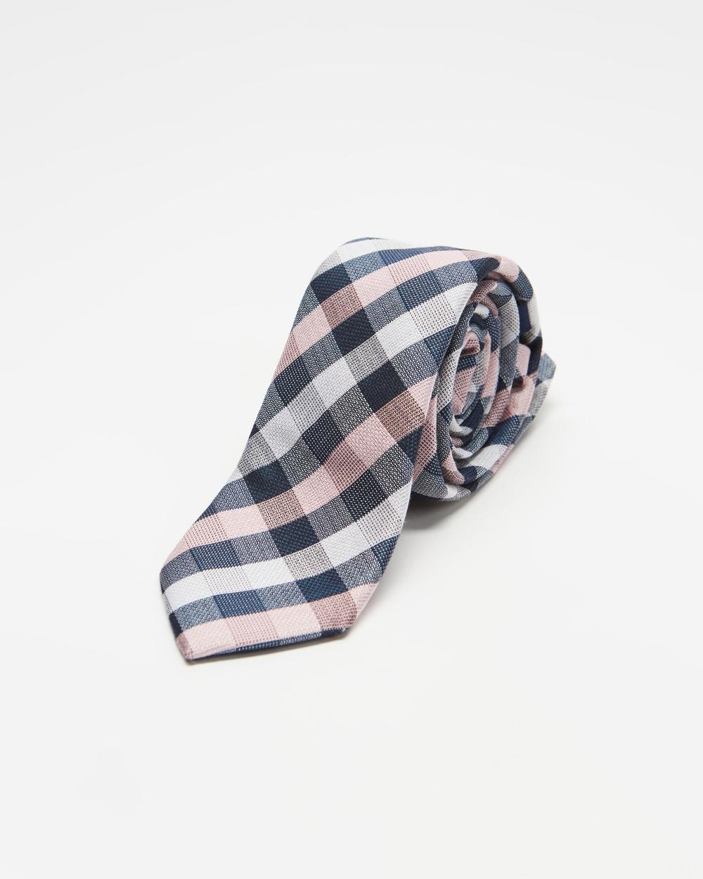 Tie Lab Check Ties Pink