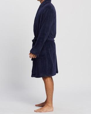 Calvin Klein Plush Robe - Sleepwear (Peacoat)