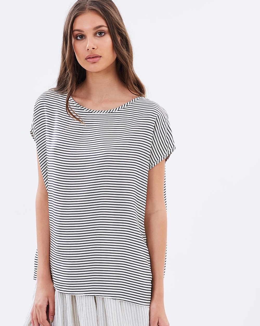 Primness Riviera Top Tops Navy Stripe Riviera Top