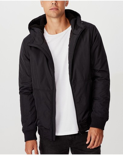 Cotton On - Ma1 Hooded Bomber Jacket