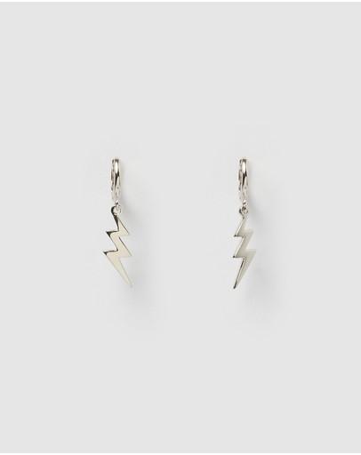 Izoa Stormi Huggie Earrings Silver