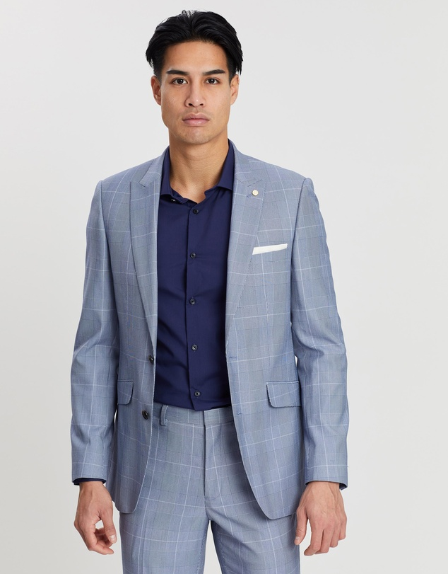 Burton Menswear - Prince of Wales Check Slim Fit Suit Jacket