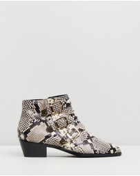 Atmos&Here - Alycia Leather Ankle Boots