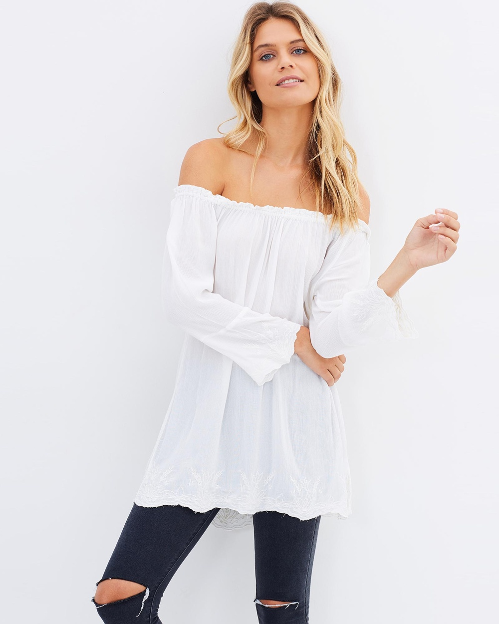 Kaja Clothing Lovisa Blouse Tops Cream Lovisa Blouse