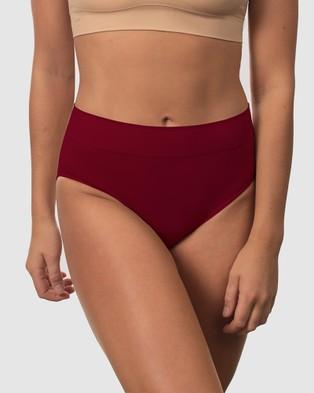 B Free Intimate Apparel Cotton High Cut Briefs   3 Pack - Bikini Briefs (Black, Blue & Red)