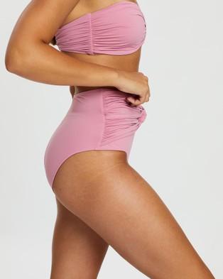 BONDI BORN Penelope Bikini Bottoms - Bikini Bottoms (Pink)
