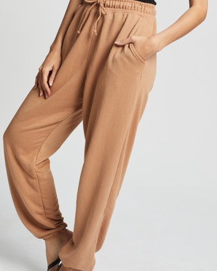 Missguided 90s Oversized Joggers - Sweatpants (Camel)