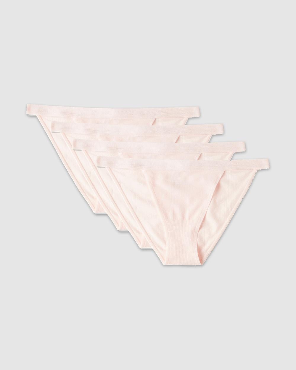 Boody 4 Pack LYOLYTE Hi Cut Bikini Briefs Powder Pink 4-Pack Hi-Cut Australia
