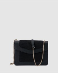 Olga Berg - Montana Suede And Pebble Shoulder Bag