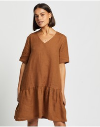 AERE - Casual Linen Dress