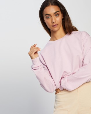 Missguided Cropped Sweat - Sweats (Candy Pink)