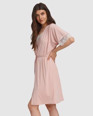 Oh!Zuza Lace Trim Robe - Sleepwear (Pink)