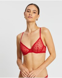 Calvin Klein - Flocked Hearts V-Day Unlined Demi Bralette
