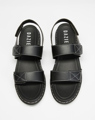 Dazie - Trove Sandals (Black Smooth)