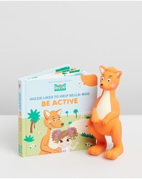 Mizzie The Kangaroo - Baby Board Book Gift Set with Teething Toy