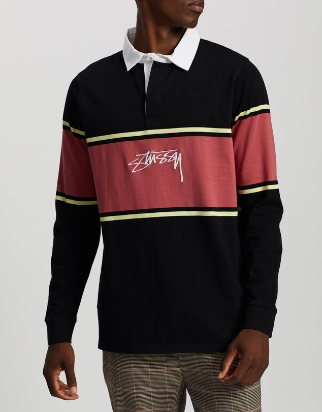 Stussy - Authentic Logo Stripe Rugby