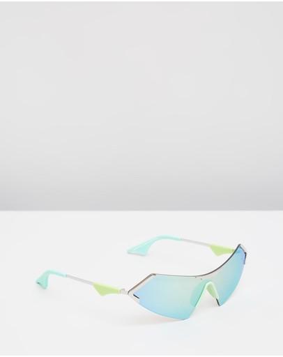 Le Specs Hbic Pastel & Green Mirror