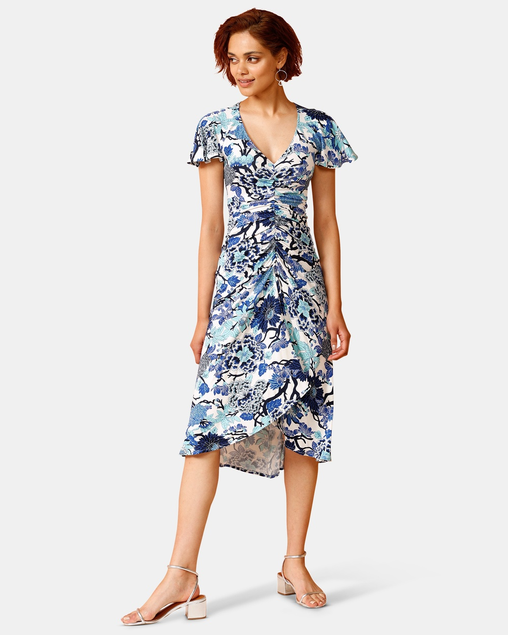 SACHA DRAKE Blue Blue Duchess Midi Dress