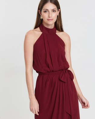 Esther Luxe Amaryllis Dress - Bridesmaid Dresses (Burgundy)