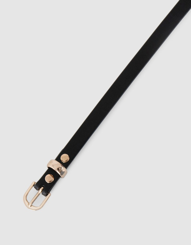 Women Taya Slim Leather Belt
