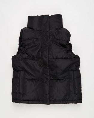 Decjuba Kids Loren Puffer Vest   Teens - Coats & Jackets (Black)
