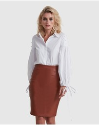 TORANNCE - Leather Pencil Skirt