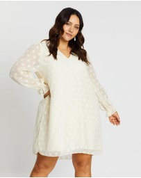 Atmos&Here Curvy - Lauren Dobby Smock Dress