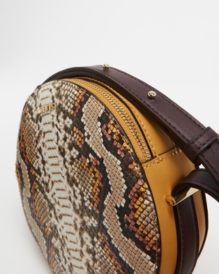 Nine West Round About Crossbody - Bags (Cognac Multi)