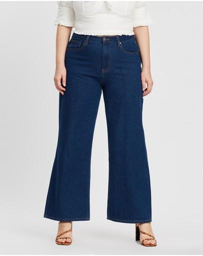 Mika Muse Winnie High-waisted Wide Leg Jeans Dark Wash