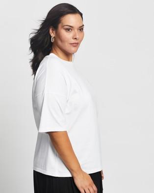 Atmos&Here Curvy - Love Tee T-Shirts & Singlets (White)