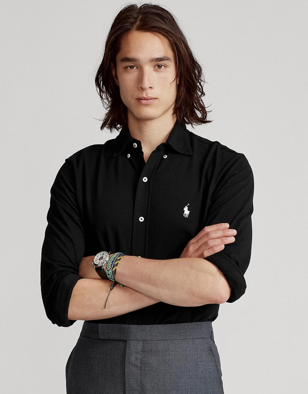 Polo Ralph Lauren - Featherweight Mesh Long Sleeve Knit Polo - The ICONIC Exclusives