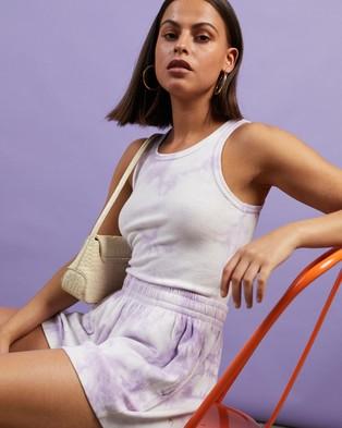 Dazie Turn Back Tie Dye Tank - T-Shirts & Singlets (Lilac Tie Dye)