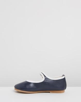 Little Fox Shoes Angel - Ballet Flats (Navy & White)