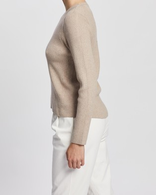 Elka Collective Houston Knit - Jumpers & Cardigans (Biscuit)