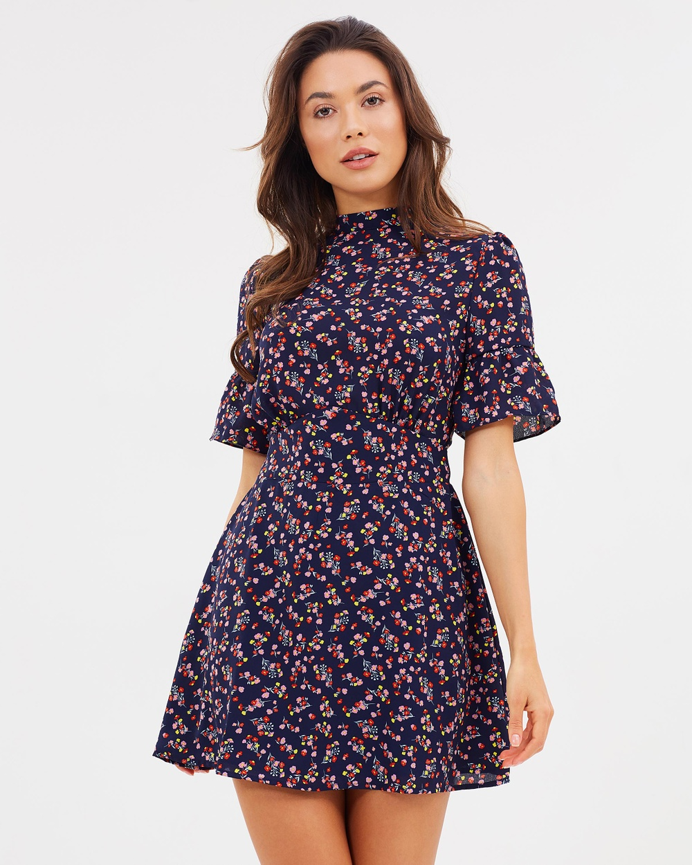 Atmos & Here ICONIC EXCLUSIVE Kendra High Neck Dress Printed Dresses Pocket Full Of Posies ICONIC EXCLUSIVE Kendra High Neck Dress