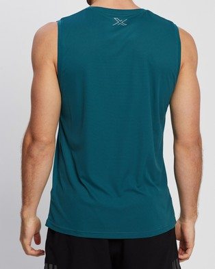 2XU - XVENT G2 Tank - Muscle Tops (Dark Sage & Silver Reflective) XVENT G2 Tank