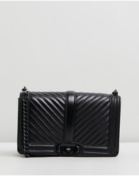 Rebecca Minkoff - Chevron Quilted Love Cross-Body Bag