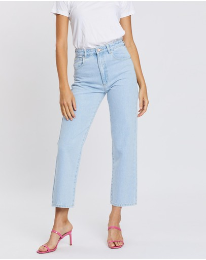 Abrand A Venice Straight Jeans Bleached Stone