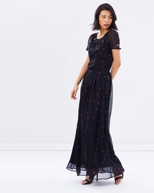 Armani Jeans – Spot Print Maxi – Bridesmaid Dresses Blue Spot