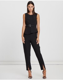 Willa - Liberty Belted Jumpsuit