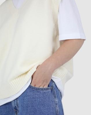 Dakota501 Off White Vest - Jumpers & Cardigans (Off White)
