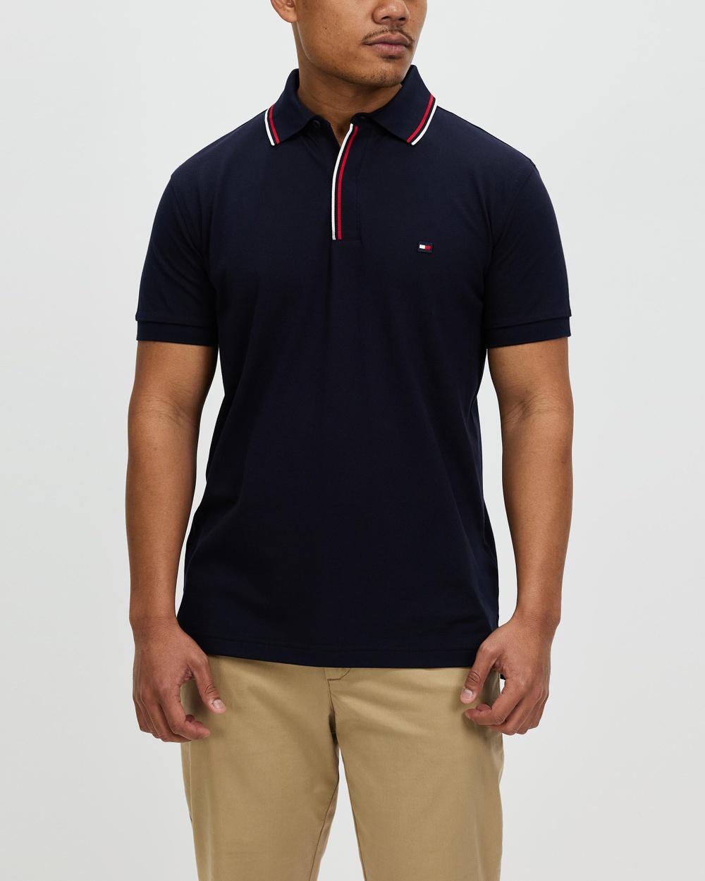 Tommy Hilfiger WCC Branded Regular Polo Shirts & Polos Desert Sky Australia