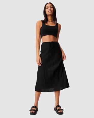 Cotton On Sunset Lover Midi Skirt - Skirts (Black)