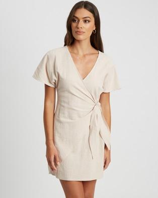 Calli - Zana Tie Dress - Clothing (Sand) Zana Tie Dress