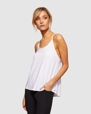 dk active - Breeze Top Muscle Tops (White)